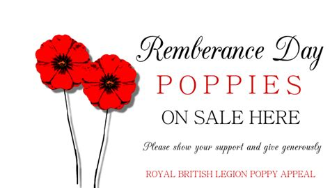 poppy appeal poster template postermywall