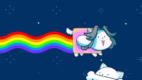 Animated Nyan Cat Wallpaper - nyan cat temmie cover animation