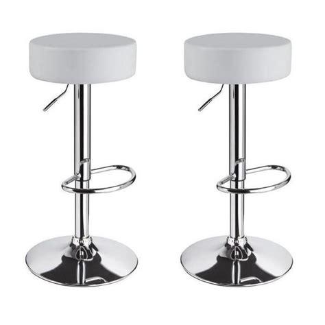 conforama chaise de bar tabourets de bar blancs lot blanc tabouret simili cuir la