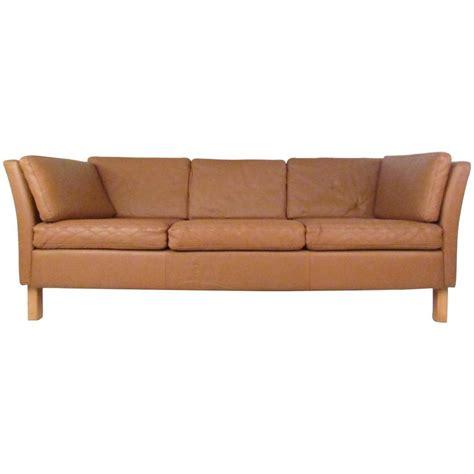 century modern leather sofa modern leather sofa mid century mogensen style Mid