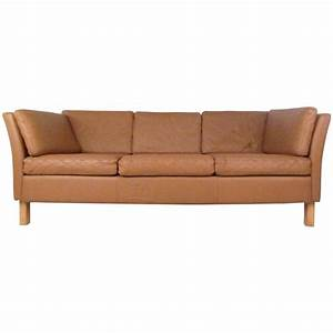danish modern leather sofa mid century mogensen style With mid century style sectional sofa