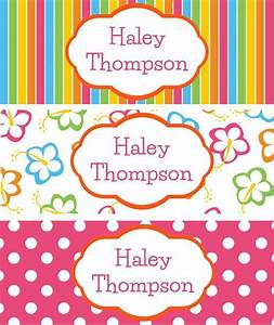 30 customizable waterproof sticker name labels With free customized name tags printable