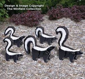 3D Life-Size Skunks Woodcrafting Pattern crafts