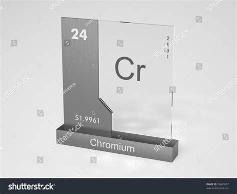 Chromium Symbol Cr Chemical Element Periodic Stock