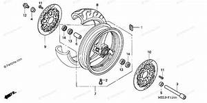 Honda Motorcycle 2005 Oem Parts Diagram For Front Wheel