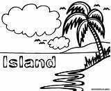 Island Coloring Sheet Colorings sketch template