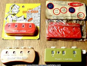 Grocery List Price Calculator 4 Different Old Plastic Grocery Store Handy Counters