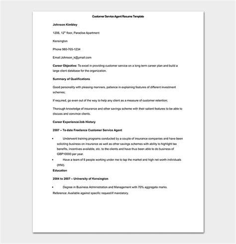 bpo resume template  samples formats