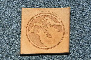 howling wolves leather embossing clicker stamp delrin
