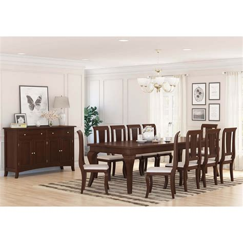 cromberg solid mahogany wood  piece dining room set