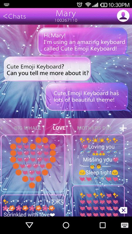 bright emoji keyboard theme  android keyboard