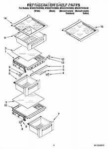Parts For Maytag Msd2576vem00  Refrigerator Shelf Parts