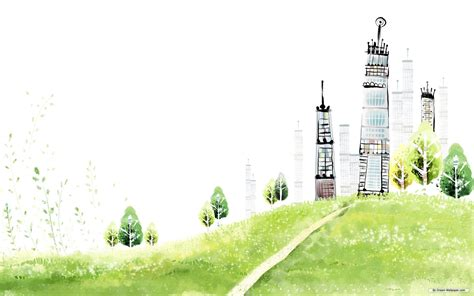 landscape color drawing hd wallpaper page