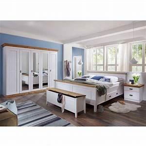 Günstige Schlafzimmer Komplett : schlafzimmer einrichtung lameira im landhausstil ~ Watch28wear.com Haus und Dekorationen