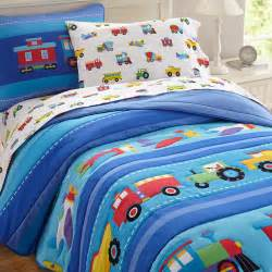 trains air planes trucks boys bedding blue comforter set cotton bedspread