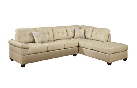 sectional sofa pieces sold separately poundex bobkona randel bonded leather 2 piece reversible
