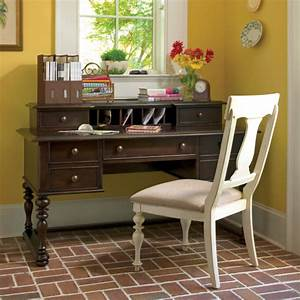 paula deen letter writing desk with hutch tobacco With letter desk with hutch