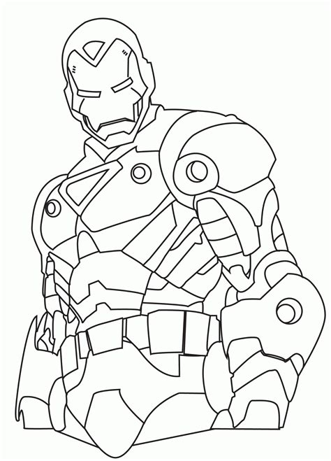 Avengers Superhero Coloring Pages Free Printable Iron Man