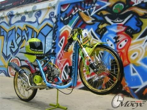 modifikasi motor matic matic drag bike yamaha mio thailand drag style modif