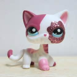 lps ebay cats littlest pet shop collection lps white pink standing cat