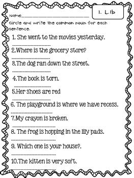 Common Core Language: Conventions of Standard English 1