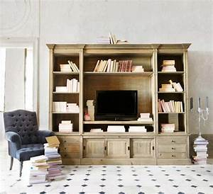 Meuble Bibliothèque Bois : 47 id es d co de meuble tv ~ Teatrodelosmanantiales.com Idées de Décoration