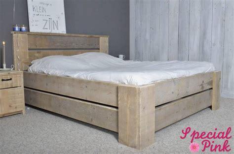 twee persoons bed tweepersoonsbed glenn steigerhout tweepersoonsbedden