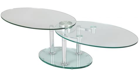 clic clac canape table basse de salon ovale en verre table basse design