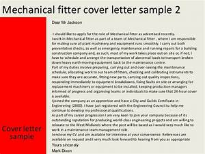 Cover Letter For Jobs Not Advertised Mechanical Fitter Cover Letter
