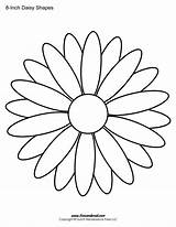 Daisy Outline Shape Templates Drawing Flower Coloring Colouring Printable Template Pages Printables Stencil Dresden Plate Clip Patterns Clipart Drawings Paintingvalley sketch template