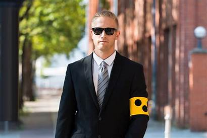 Blind Person Armband Wearing Sign Road Vision