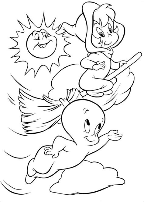 fun coloring pages casper ghost coloring pages