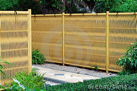 plastic outdoor fencing plastic bamboo fence royalty free stock photo image 7055735