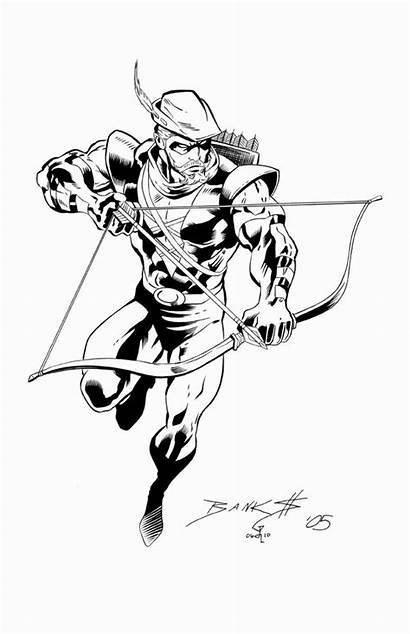 Arrow Coloring Pages Dc Drawing Characters Canary