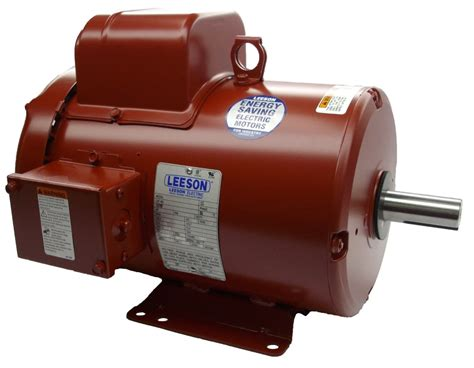 Electric Motor Company by Leeson 3hp 1ph 184t Frame 1800rpm Tefc 230v Farm Duty