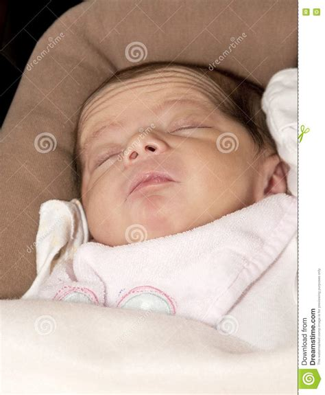 Infant Baby Girl Stretching Stock Image Image 16594131