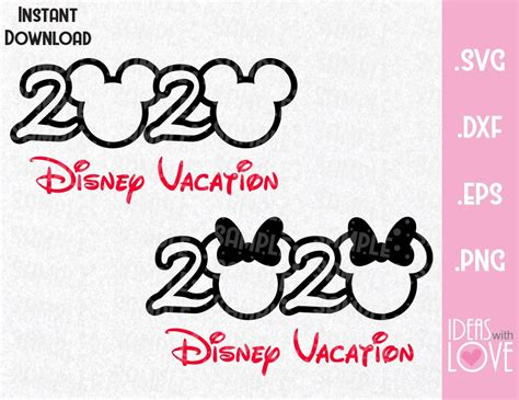Use by itself or copy and mirror it. Mickey and Minnie Mouse Ears Disney 2020 Vacation Inspired ...