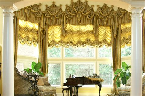 Custom And Luxury Drapery For Bay Window