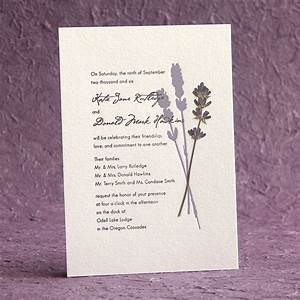 Pressed lavender wedding invitation google search for Pressed lavender wedding invitations