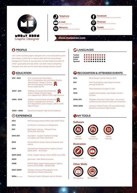 Curriculum Vitae Layout by Business Infographic Curriculum Vitae By Murat Eren Via