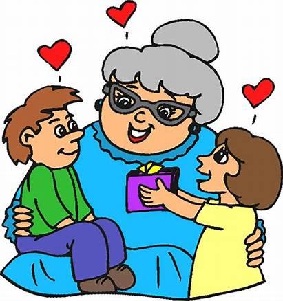 Grandma Birthday Happy Clipart Clip Grandmother Grand