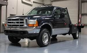 Manual Flatbed 1999 Ford F250 4x4 Diesel 7 3l Powerstroke