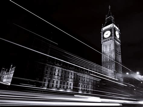Wallpaper Hd Black And White by Black White Clock Tower Landscape Wallpapers Hd Desktop