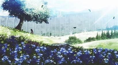 Anime Scenery Aesthetic Gifs Attack Titan Landscape