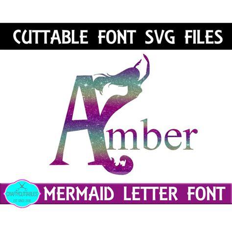 mermaid monogram fontmermaid svgfontsmermaid cuttable etsy monogram fonts mermaid font