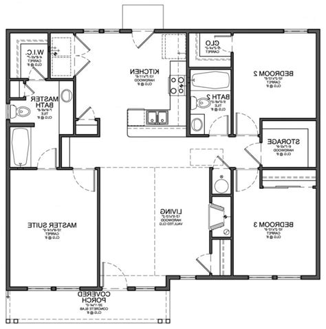simple house floor plans with measurements free designs