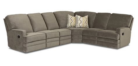 Sectional Sofas Reclining by Klaussner Chapman Casual Power Reclining Sectional Sofa