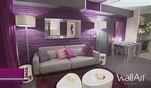 Deco Pour Salon : deco salon idee deco salon moderne 3d wallart ~ Teatrodelosmanantiales.com Idées de Décoration