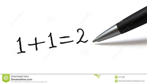 Simple Math Formula Stock Photo. Image Of Ballpen