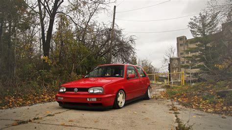 papeis de parede  volkswagen golf mk vermelho